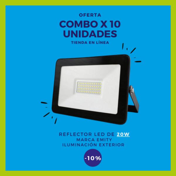 REFLECTOR LED 20W Combo x 10 uds