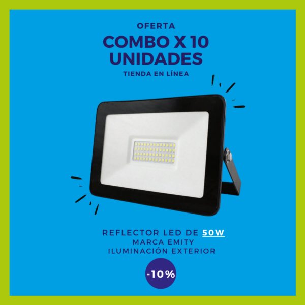 REFLECTOR LED 50W Combo x 10 uds