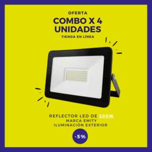 Reflector LED de 200W Combo x 4 uds